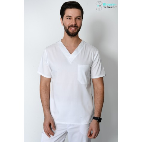 Tunique Medicale Cherokee Antimicrobienne Unisexe Blanc 34777A