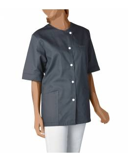 Blouse Medicale Femme à Pressions Angele Gris Anthracite