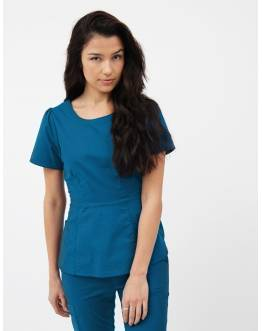"Tunique Jaanuu ""Peplum Top"" Bleu Caraibe"
