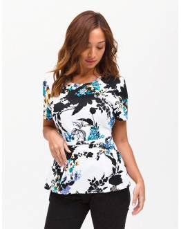 "Tunique Jaanuu ""Peplum Top"" Imprimé Floral"