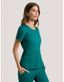 "Tunique Jaanuu ""Peplum Top"" Vert Collection Jolie"