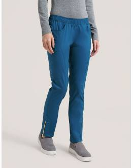 "Pantalon Jaanuu ""Moto Pant"" Bleu Caraibe Collection Jolie"