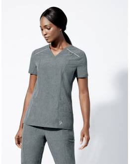 "Tunique Jaanuu ""Shift V-Neck Top"" Gris Clair Collection Arya"