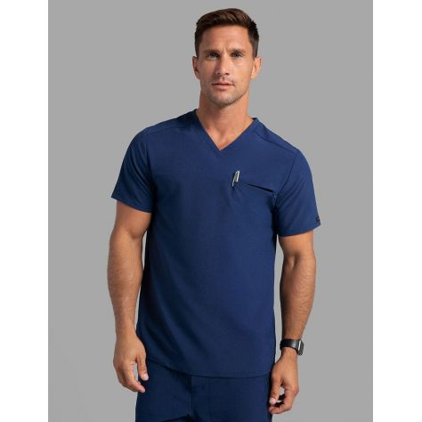"Tunique Jaanuu Homme ""Refined V-Neck Top"" Bleu Marine"