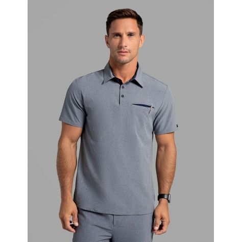 "Tunique Jaanuu Homme ""Refined V-Neck Top"" Bleu Marine Chiné"