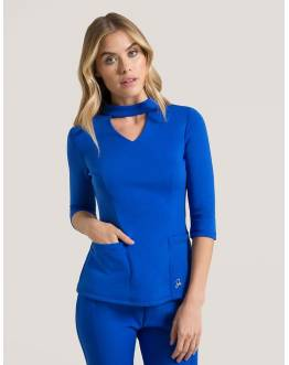 "Tunique Jaanuu ""Mock Neck Top"" Bleu Royal Collection Ponte"