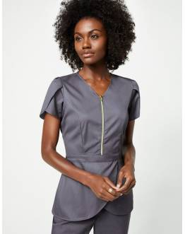 "Tunique Jaanuu ""Tulip Top"" Gris Anthracite Collection Jolie"