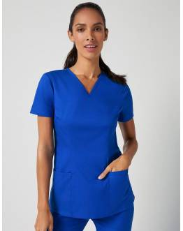 "Tunique ""Cinched V-Neck Top"" Bleu Royal Collection Classic"