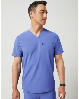 "Tunique Jaanuu Homme ""Refined V-Neck Top"" Ciel"