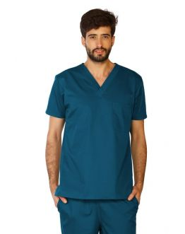 Tunique Medicale Homme Life Threads 3110 Bleu Caraibe