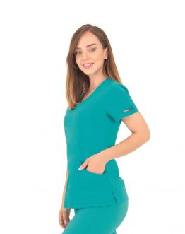 Tunique Medicale Femme Life Threads 1512 Bleu Lagon