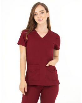 Tunique Medicale Femme Life Threads 1416 Bordeaux