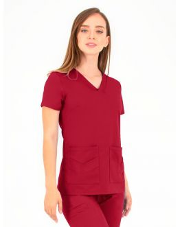 Tunique Medicale Femme Life Threads 1416 Rouge