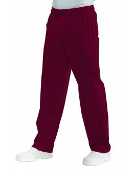 Pantalon Medical Unisexe Bordeaux PolyCoton